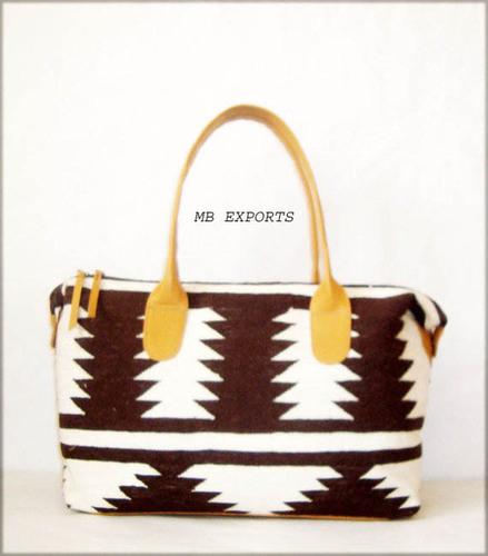 leather kilim  bag