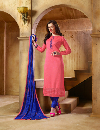 Stylish New Pink Banglori Silk Salwar Kameez
