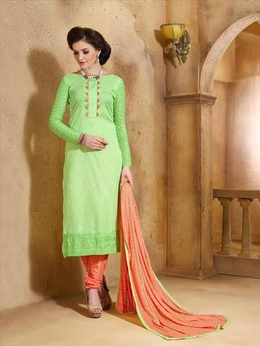 Light Green Unstitched Salwar Kameez