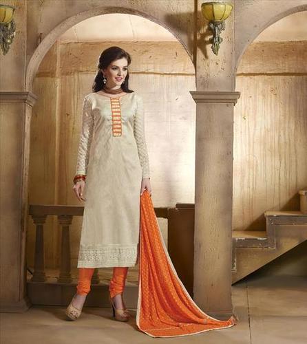 Off White New Unstitched Salwar Kameez