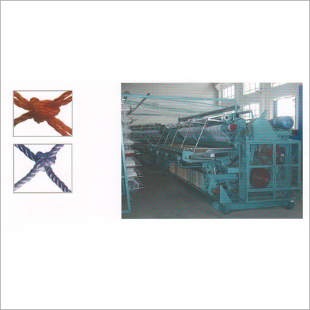 Rotating Upper Hook Type Single & Double Knot Netting Machine