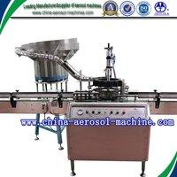 Automatic aerosol button pressing machine