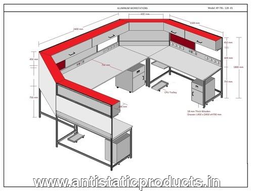 Electrostatic dissipative workstation