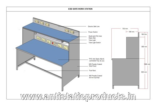 Simple Working ESD Workstation table