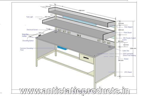 Professional ESD Workstation Table