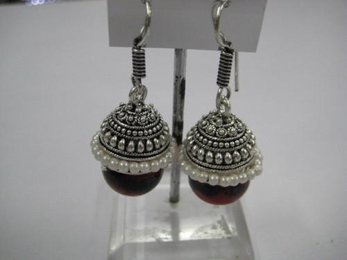 Earrings in silver plated