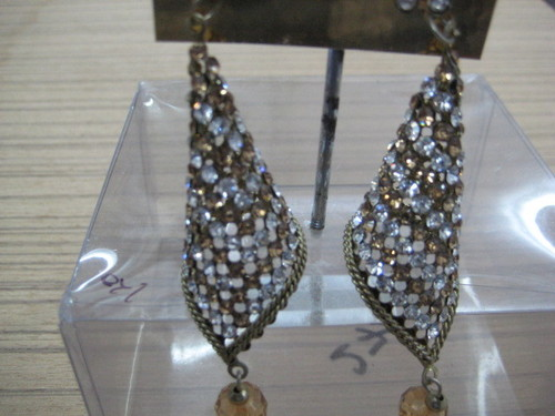 Earrings traditional in oxidised gold