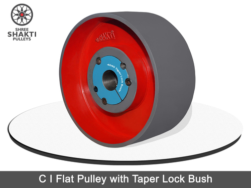 Solid Flat Pulleys with Taper Lock Bush