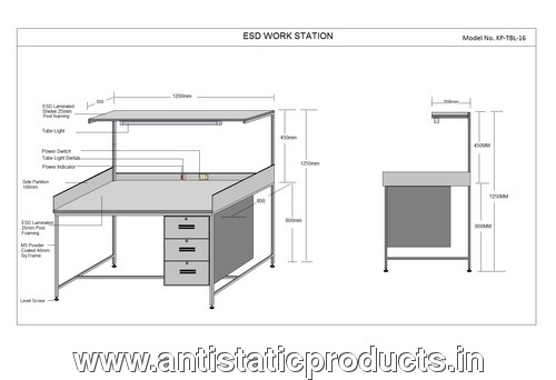 Customized ESD Workstation Table