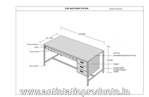 Basic Model ESD Work Table