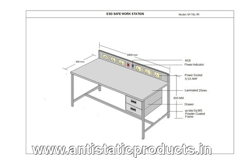 Basic Model ESD Workstation Table