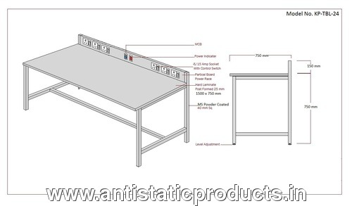 ESD Work Table Drawing