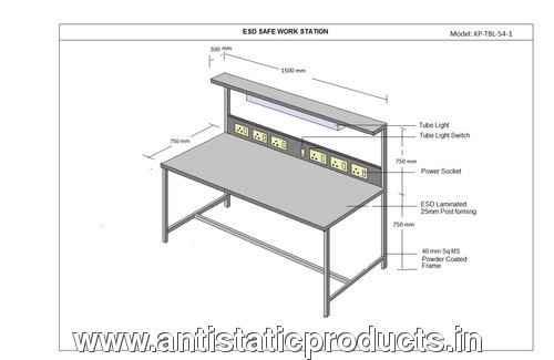 Simple ESD Workstation Table