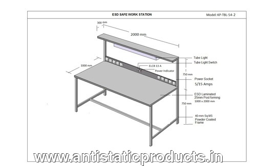Simple ESD Workstation Table Drawing