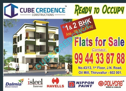 Ready To Occupy Flats in thiruvallur