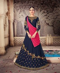 sethnic karma suit supplier in surat green long wedding collection