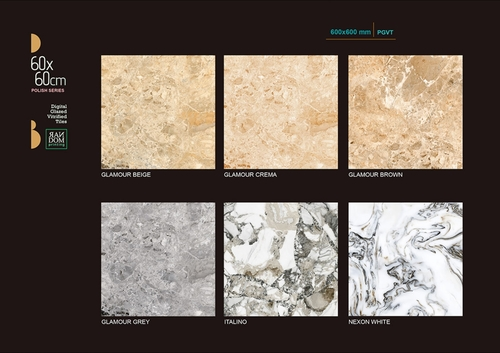 Marble Effect Porcelain Tiles < 60x60 >