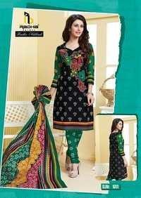 Black Cotton Dress Materials