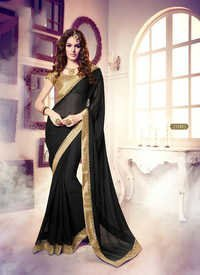 Black Georgette Awesome Saree