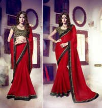 Red Georgette Fabulous Saree