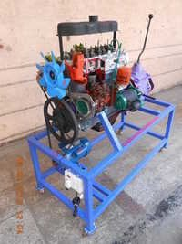 Cut Section Working of Four Stroke Four Model Cylinder Diesel Engine