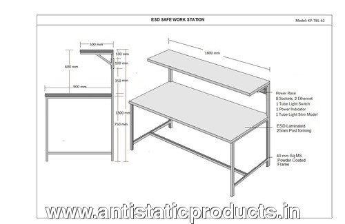 Simple ESD Work Table Drawing