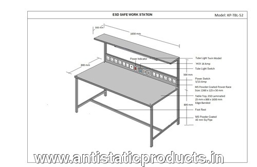 ESD Safe Working Table