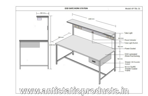 Kinetic Polymers ESD Work Station Table