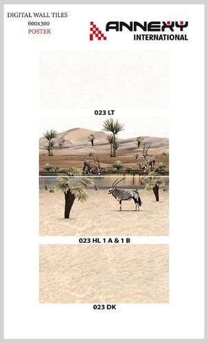 Digital Poster Ceramic Wall Tiles 300x600 mm
