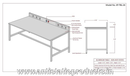 Basic Model Safe ESD Work Table