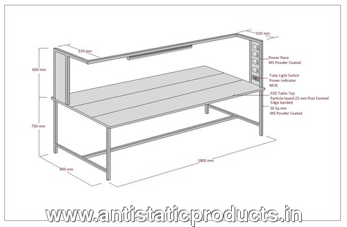 Long Simple ESD Work Table