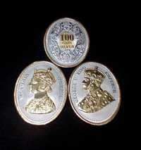 100 Gms Oval Shape Silver Coin