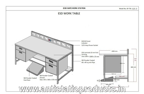 Safety made Industrial ESD Workstation