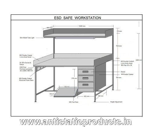 Professional Safe ESD Working Table