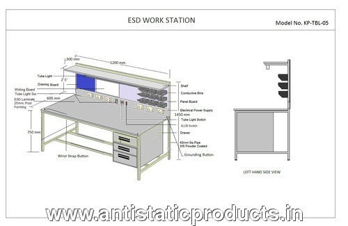 ESD Safe Workstation Table