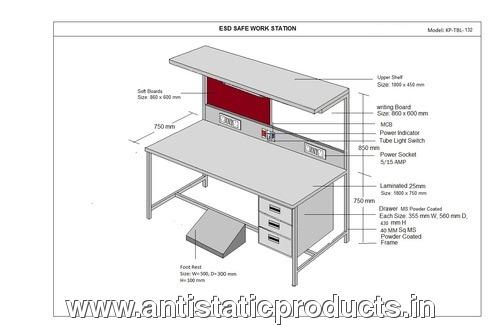 ESD Safe Workstation Tables