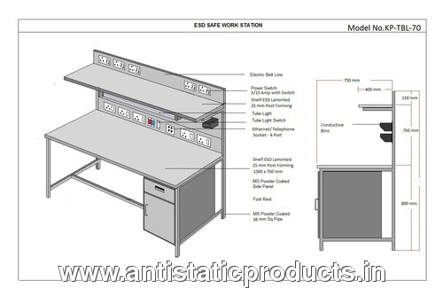 Safety Made Industrial ESD Work Station