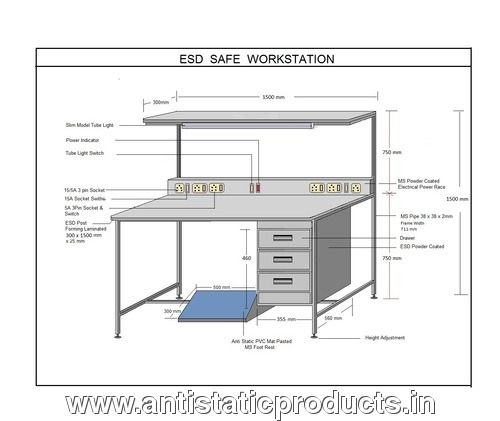 Safe Industrial ESD Work Station