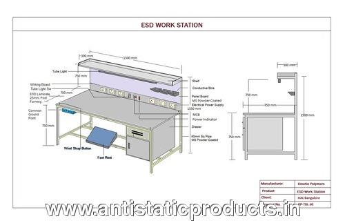 Industrial ESD Safe Workstation