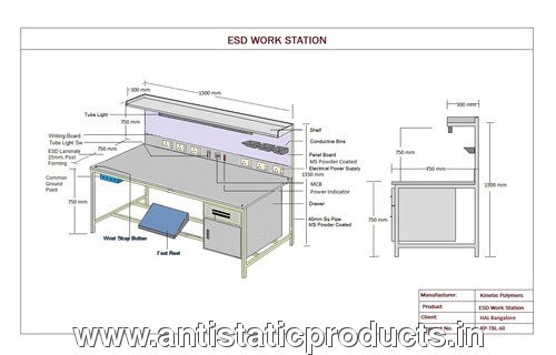Industrial ESD Safe Workstation