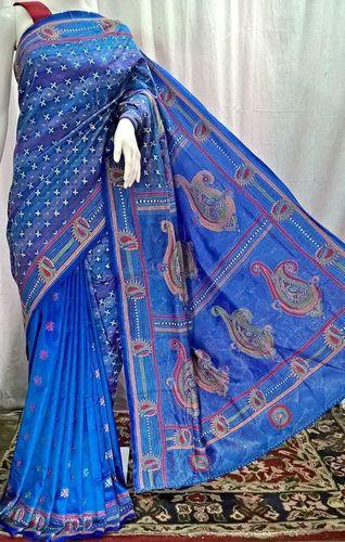 Bangalore Silk Kantha Saree