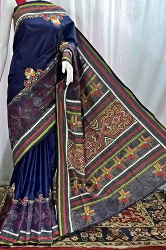 Fancy Bangalore Silk Kantha Saree