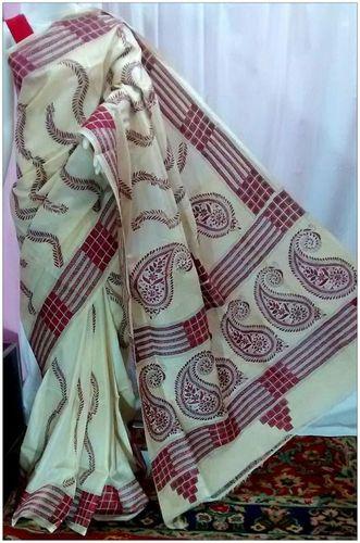 Tussar Silk Nakshi Kantha Saree