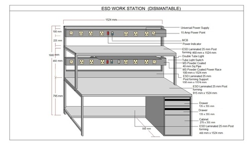 Professional Safe ESD Work station
