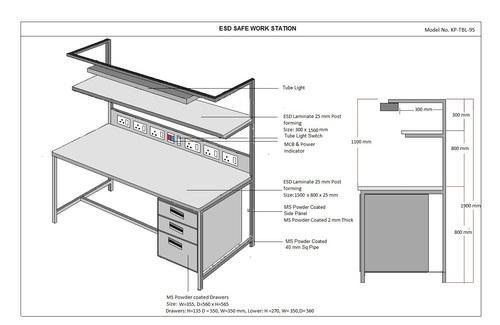 Safe working ESD Workstation