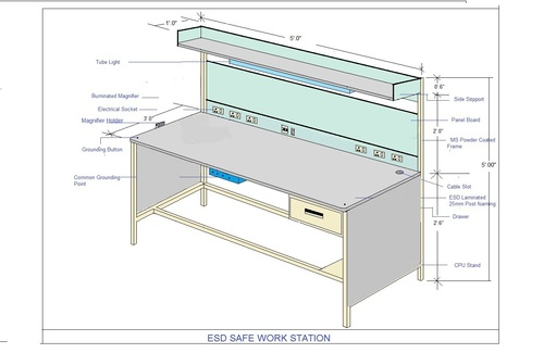 Electrostatic dissipative work station