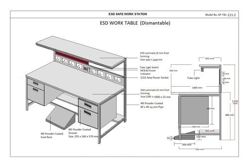 Electrostatic dissipative workbench