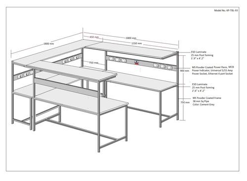 Diagonal ESD Workstation