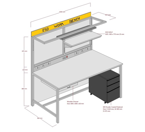 Standard SAFE ESD Workstation