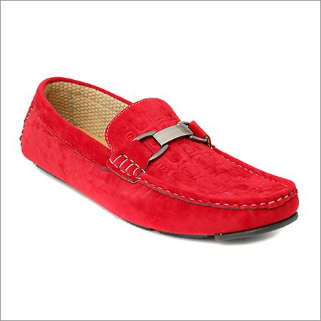 Men Red Velvet Loafer
